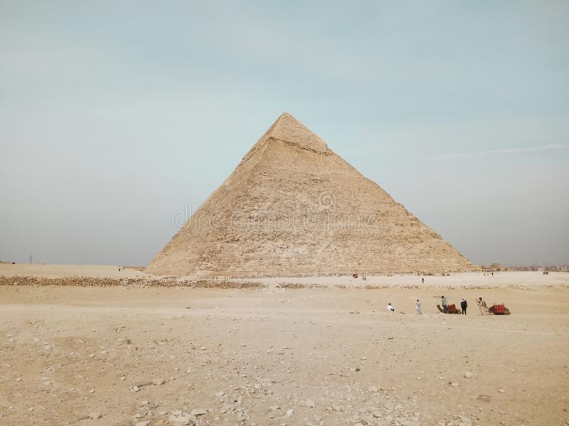Una vista el gran pirámide en Giza, Egipto fotografía de archivo libre de regalías