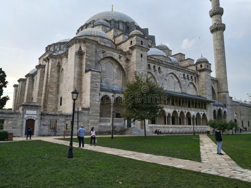 Una vista esterna della moschea di Sulaimani immagine stock