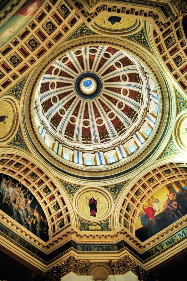 Cupola della Pensilvania Campidoglio fotografia stock libera da diritti
