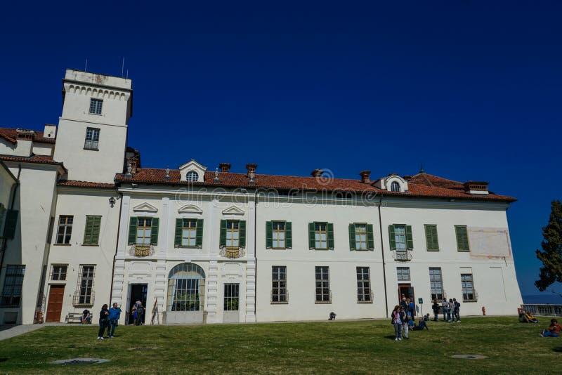 Una vista magnifica del castello di Masino immagine stock libera da diritti