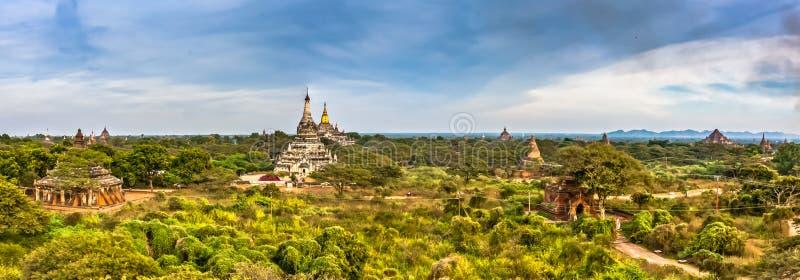 Una vista panor?mica de Bagan viejo, Myanmar fotografía de archivo libre de regalías