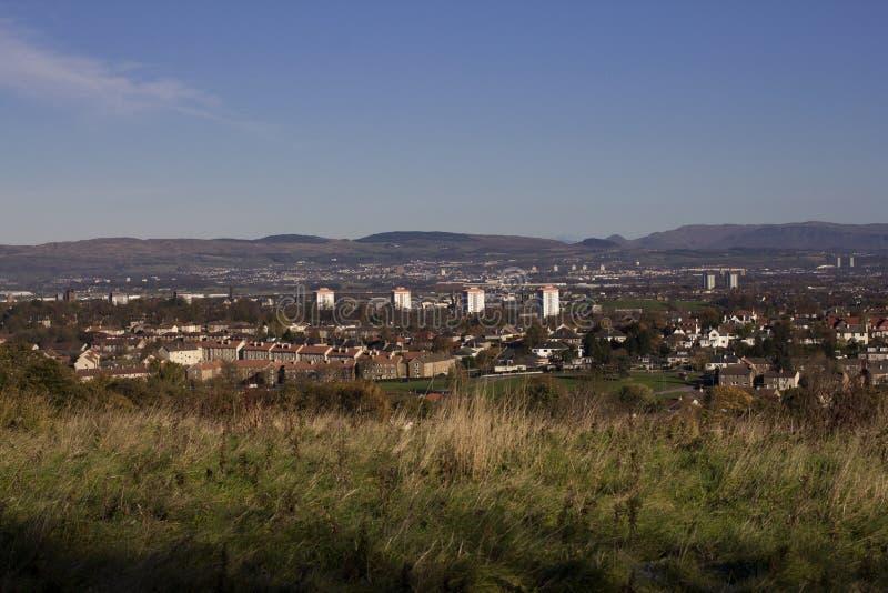 Una vista panorámica de Paisley fotos de archivo