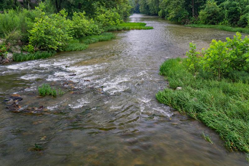 Una vista pintoresca del río de Roanoke foto de archivo
