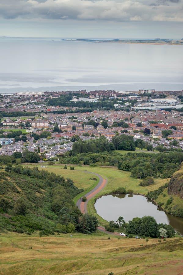 Una vista a?rea de la ciudad de Edimburgo, Escocia, Reino Unido imágenes de archivo libres de regalías