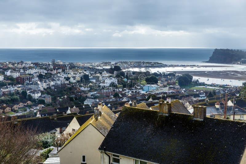 Una vista sopra i tetti fotografia stock