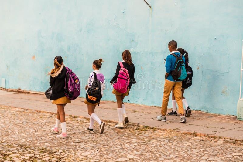 Una vista tipica in Trinidad in Cuba fotografia stock libera da diritti