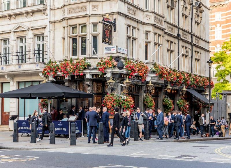 Una vista a Westminster a Londra immagini stock