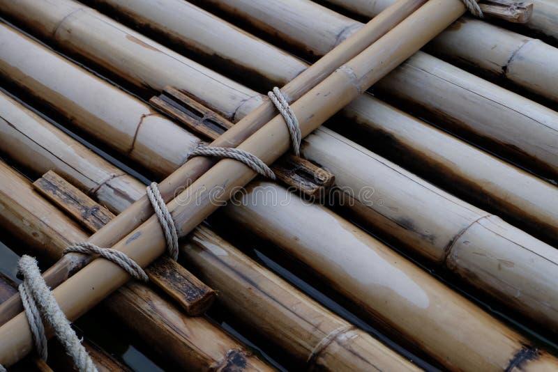Una zattera di bambù fotografie stock libere da diritti