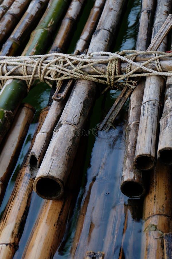 Una zattera di bambù immagini stock libere da diritti