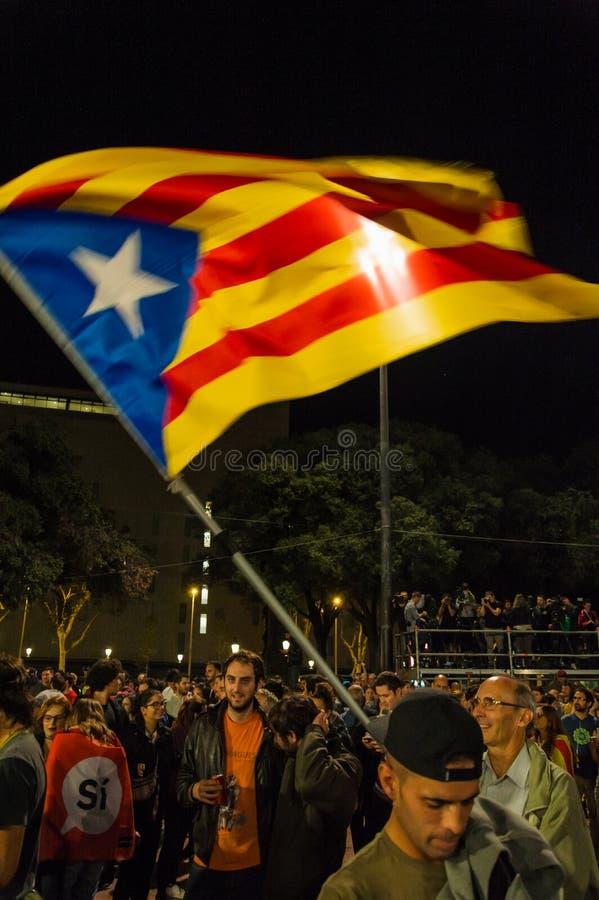 Unabhängige Flagge von catalunya lizenzfreies stockfoto