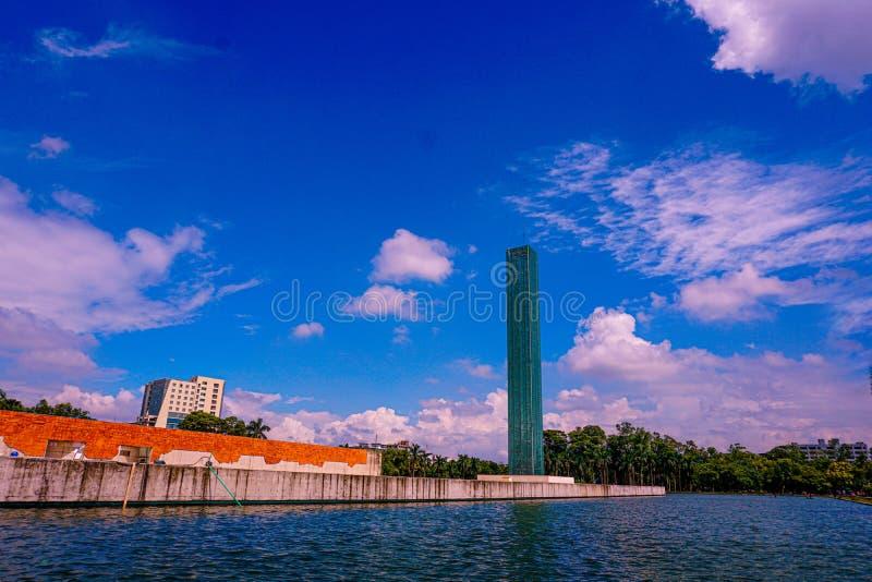 Unabhängiger Turm und Kriegsmuseum, Freiheitsplatz von Shahbagh-Dhaka-Bangladesch lizenzfreie stockfotografie