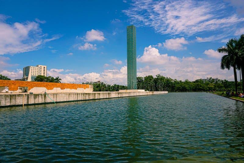 Unabhängiger Turm und Kriegsmuseum, Freiheitsplatz von Shahbagh-Dhaka-Bangladesch stockbilder