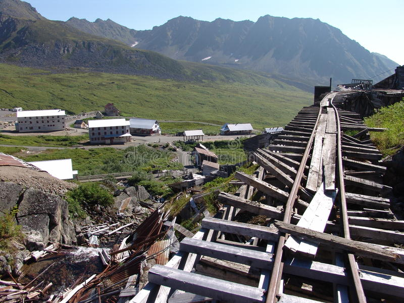 Unabhängigkeit-Gruben-Serien-Schienen stockbild