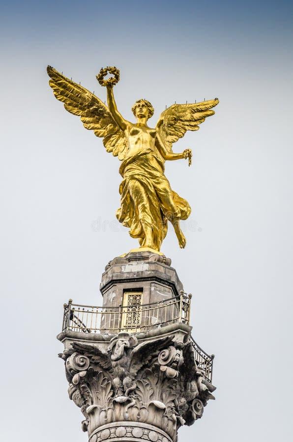 Unabhängigkeits-Monument bei Paseo de la Reforma stockfotografie