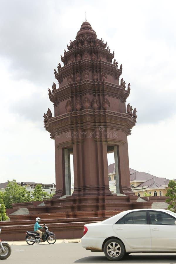 Unabhängigkeits-Monument Phnom Penh Kambodscha lizenzfreies stockbild