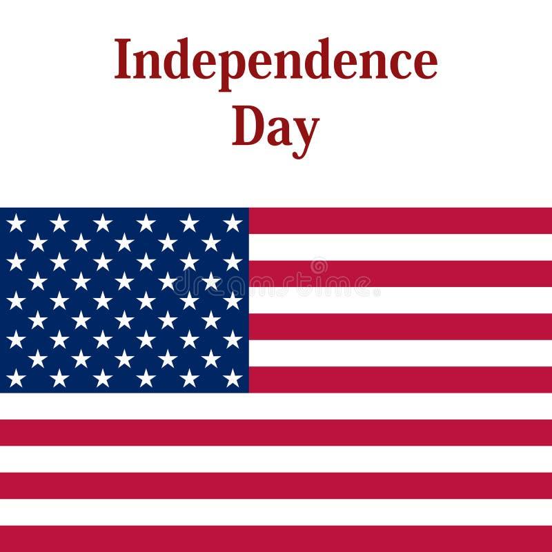 Unabhängigkeitstag in den Vereinigten Staaten von Amerika vektor abbildung