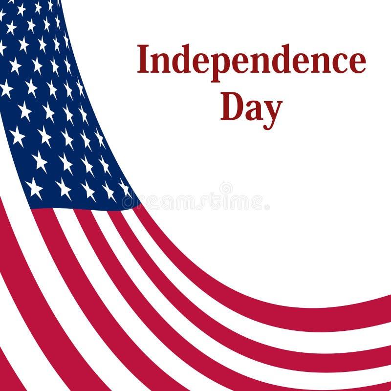 Unabhängigkeitstag in den Vereinigten Staaten von Amerika lizenzfreie abbildung