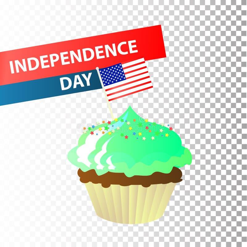 Unabhängigkeitstag Vereinigte Staaten Viertel von Juli stock abbildung