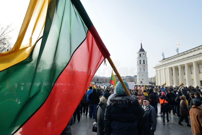 Unabhängigkeitstag, Vilnius, Litauen lizenzfreies stockfoto