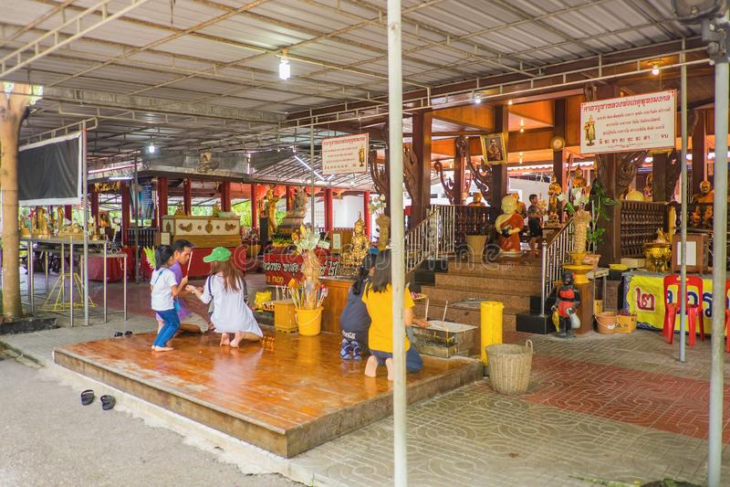 Unacquainted Thai People Walking in Pattaya Floating Market.Chonburi Thailand Travel. Samutsongkhram/Thailand - 16 September 2107 : Unacquainted Thai people and royalty free stock photo