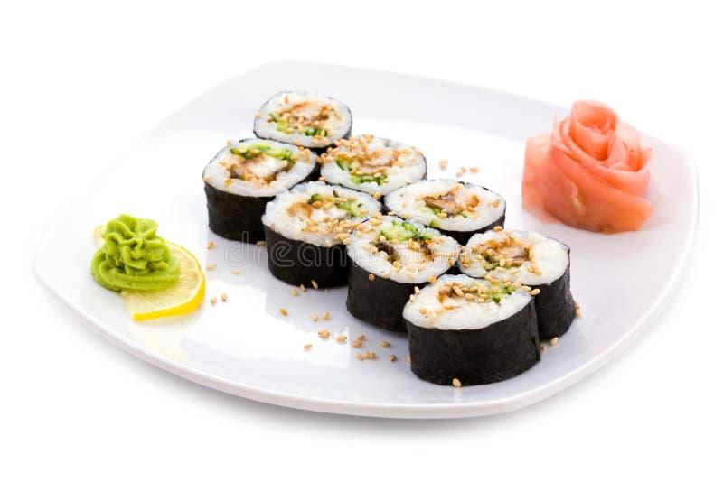 Download Unagi maki stock image. Image of japanese, ginger, isolated - 12819011