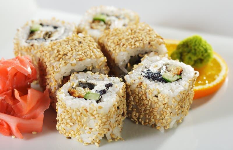 Unagi Maki Sushi lizenzfreie stockfotografie