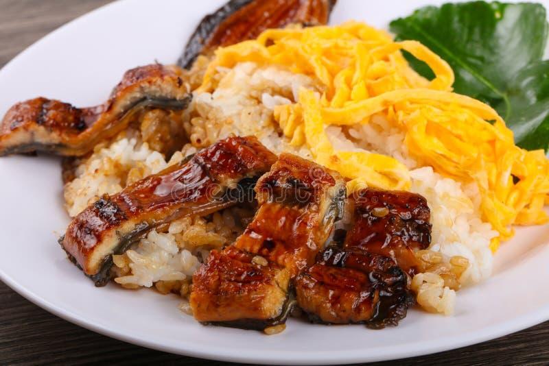 Unaju - eel with rice royalty free stock image