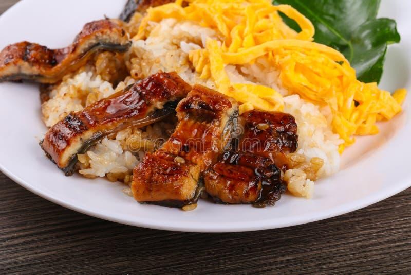 Unaju - eel with rice stock image