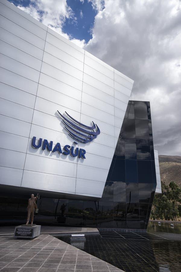 The UNASUR building in Quito Ecuador royalty free stock photos