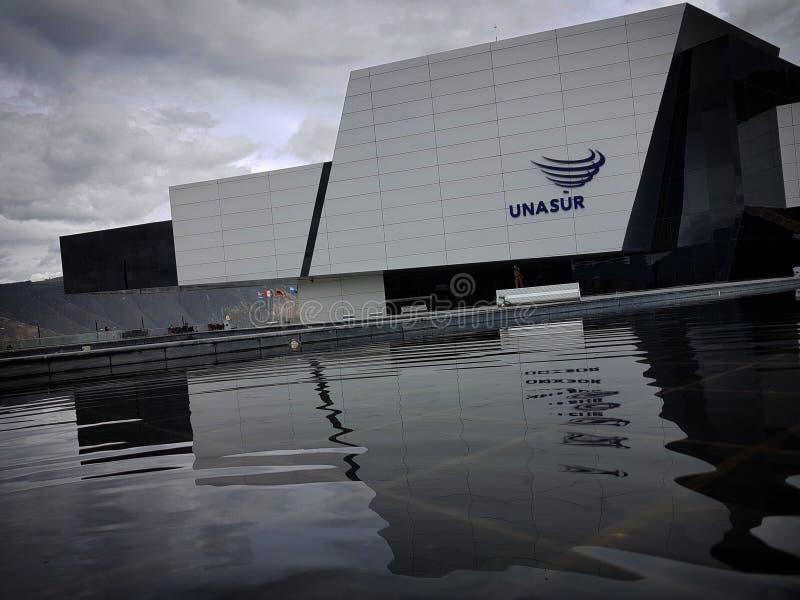 UNASUR Hauptquartier, Quito lizenzfreies stockbild