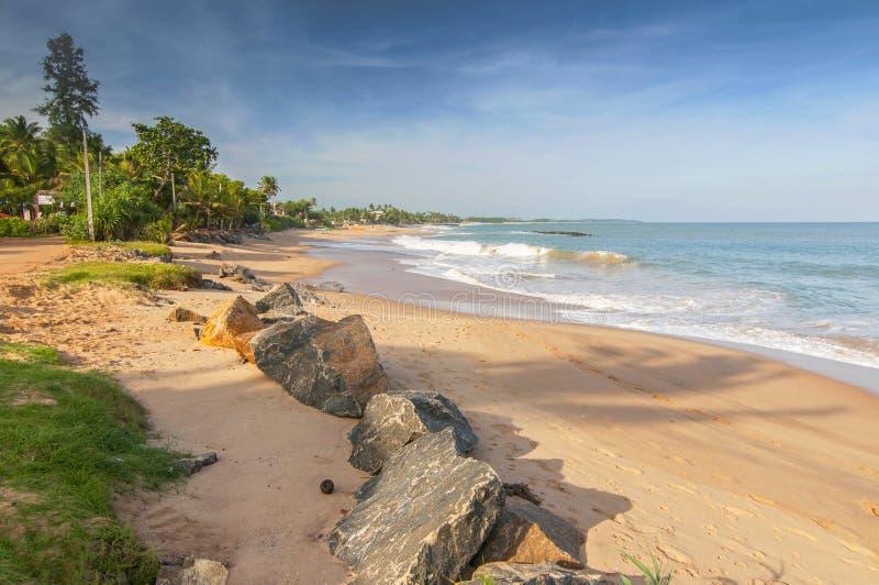 Unawatuna beach, near Galle, Sri Lanka, Asia.  stock photography