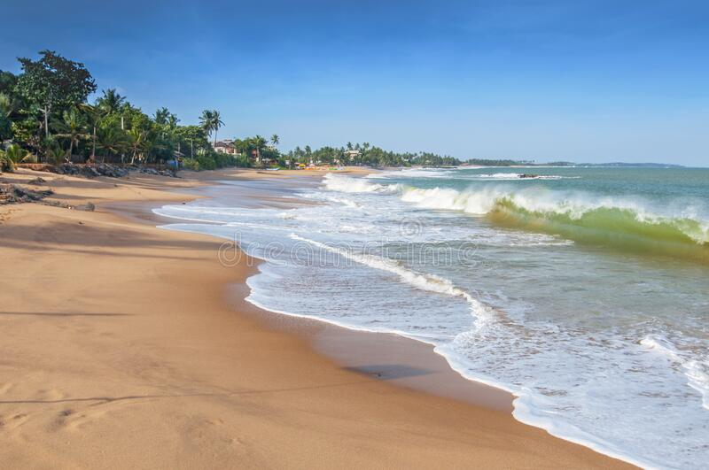 Unawatuna beach, near Galle, Sri Lanka, Asia.  stock photography