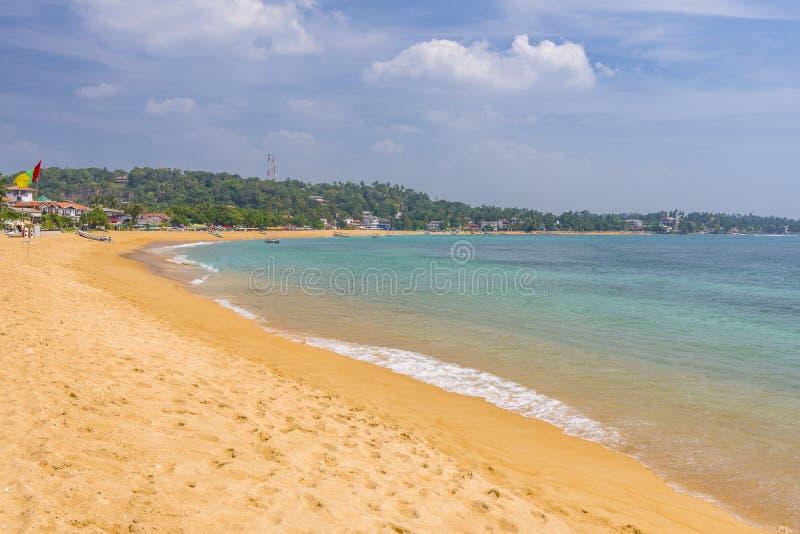 Unawatuna plaża, Sri Lanka zdjęcie royalty free