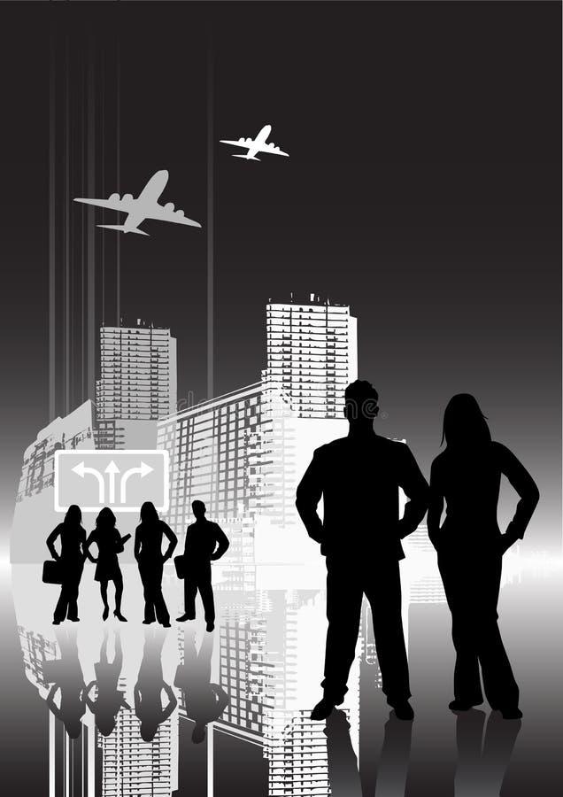 Unban City People stock illustration