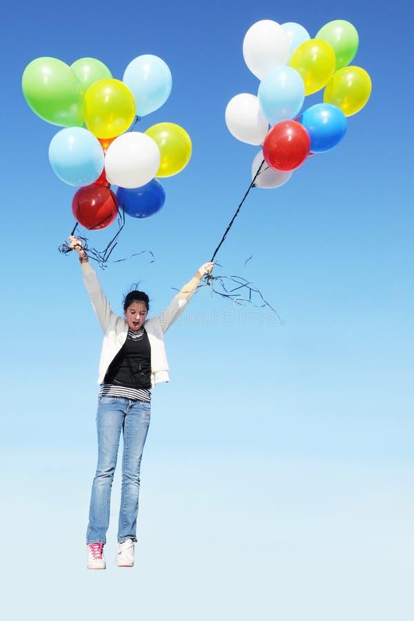 Unbeabsichtigter Ballon-Flug lizenzfreie stockfotos
