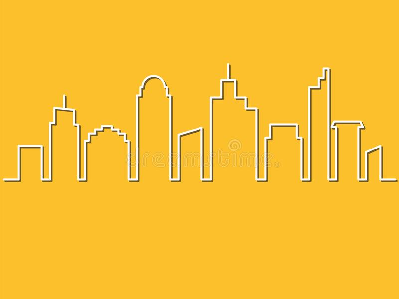 Unbedeutende Art, Stadtskyline Auch im corel abgehobenen Betrag Städtische Länder vektor abbildung