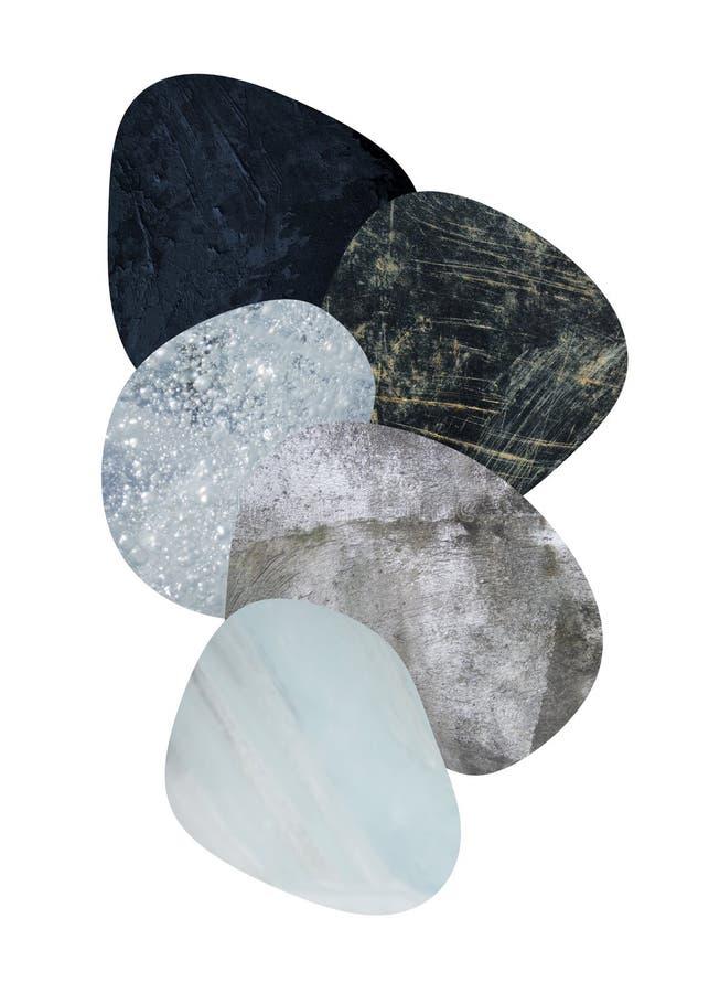 Unbedeutende moderne bedruckbare geometrische nordische Kunst lizenzfreie stockbilder