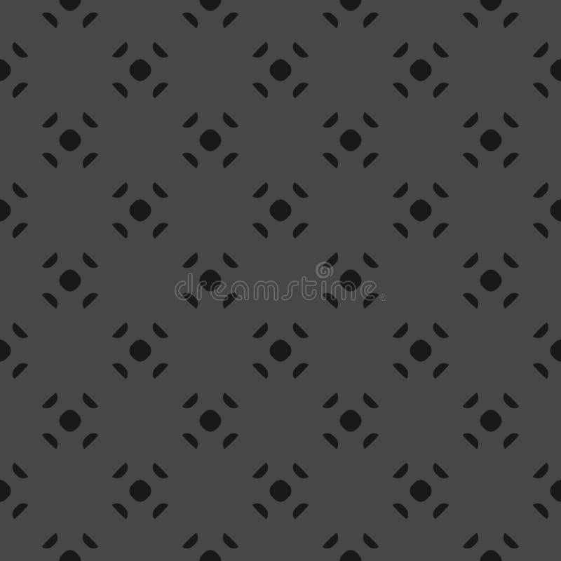 Unbedeutender Hintergrund des schwarzen und grauen Vektors mit kleinen Kreisformen, Punkte lizenzfreie abbildung