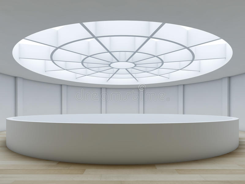 Unbedeutender Innenraum mit Atrium. stock abbildung