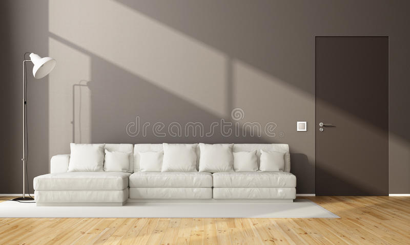 unbedeutendes braunes wohnzimmer stock abbildung. Black Bedroom Furniture Sets. Home Design Ideas