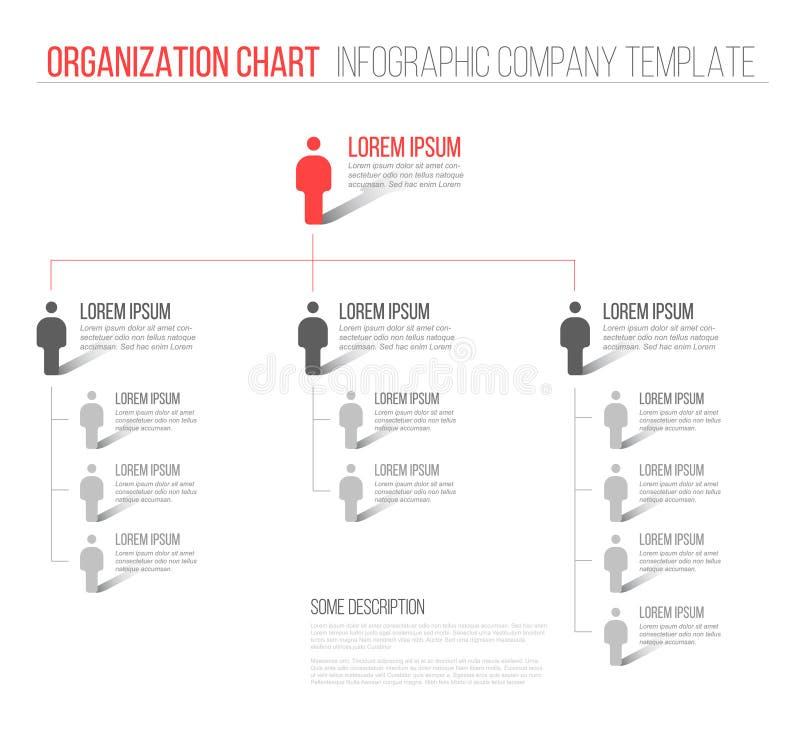 Unbedeutendes Diagramm der Hierarchie 3d lizenzfreie abbildung
