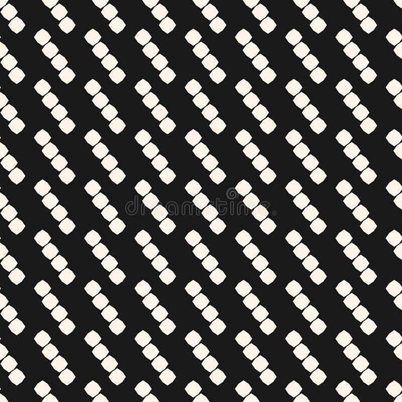 Unbedeutendes nahtloses Muster des Vektors Kleine achteckige Formen in der diagonalen Reihe lizenzfreie abbildung