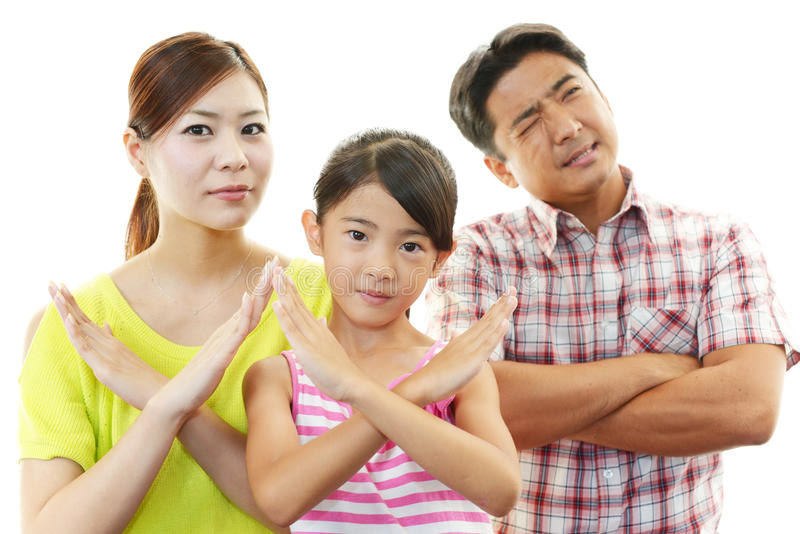 Unbefriedigte Familie stockbilder