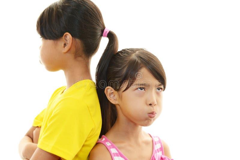 Unbefriedigte Mädchen lizenzfreies stockbild