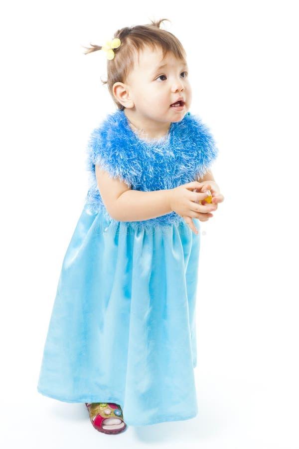 Unbefriedigtes Kleinkindmädchen lizenzfreies stockfoto