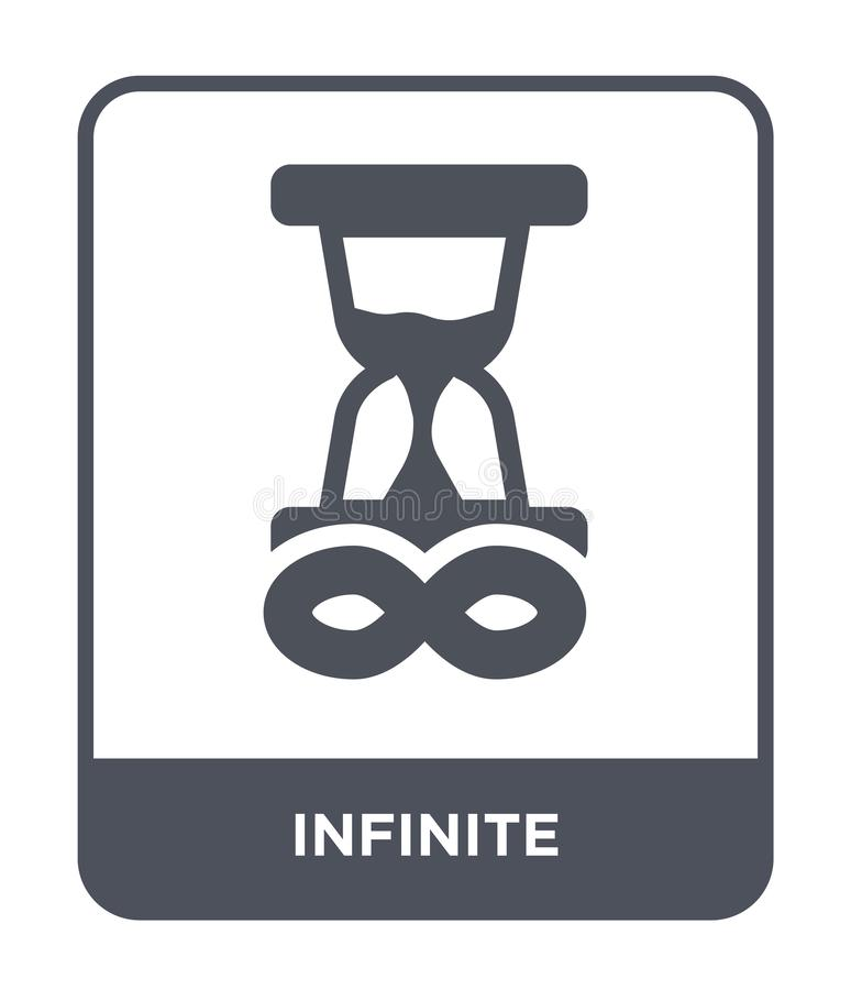 unbegrenzte Ikone in der modischen Entwurfsart unbegrenzte Ikone lokalisiert auf weißem Hintergrund einfache und moderne Ebene de stock abbildung