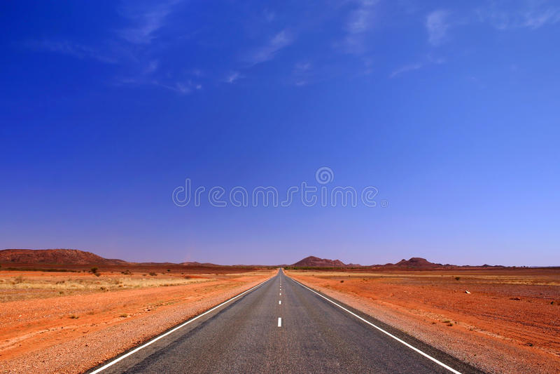 Unbegrenztheitsstraße stockfotografie