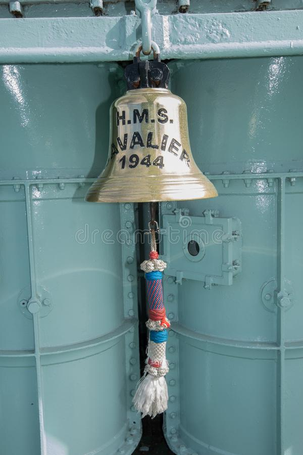 Unbekümmerte Schiffe Bell HMS lizenzfreie stockfotografie