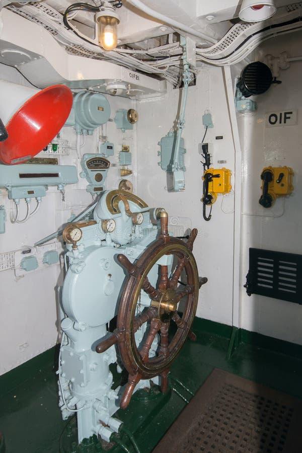 Unbekümmertes Ruderhaus HMS stockfotos
