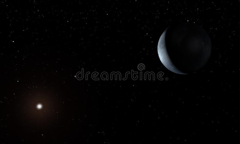 Unbekannter Planet im Weltraum Abbildung 3D lizenzfreie abbildung